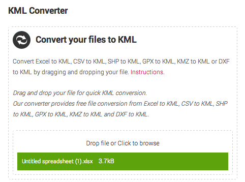 Excel to kml converter free download countfreeload for Kmz to dxf