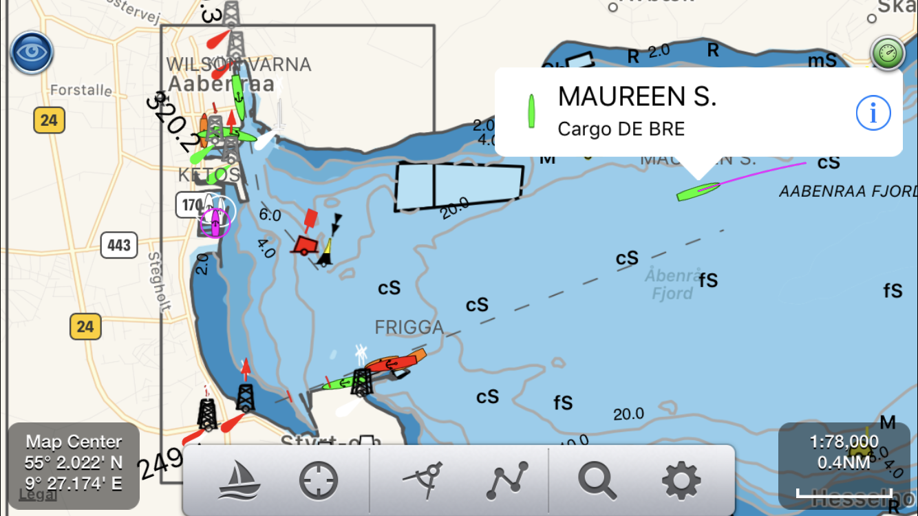Pocket Mariner Marine Apps And Services Ships Tall Google Search Book Covers Diagrams Bloody Seanav Also Has Complete Live Ship Ais Coverage For The Whole Of Denmark Here Is An Example In Aabenraa Fjord Showing Maureen S Just Departed On