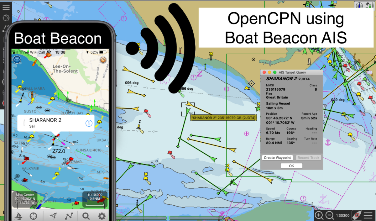 How to setup Boat Beacon AIS Sharing to OpenCPN